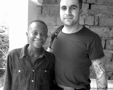 Darcy Ataman (right) has enlisted singer-songwriter Innocent Balume to mentor former fighters.