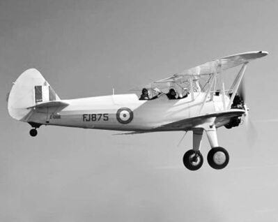 SUBMITTED PHOTOA Second World War-era Boeing PT-27 Stearman in action.