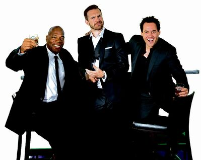 It's comedy by camaraderie on the Just For Laughs tour, where everyone, including, from left, Alonzo, Darrin and Orny, is having a good time