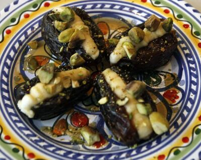 Stuffed dates from Segovia Tapas Bar and Restaurant.
