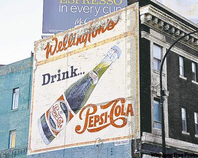 Pepsi sign was repainted in 1982.