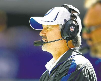 Sam Riche / mcclatchey news service archivesIndianapolis Colts head coach Chuck Pagano rekindled excitement in the locker-room and around the city following last year�s 2-14 season.