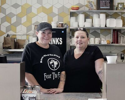 (From left) Destiny Michell and Erica Contois are co-owners of The Perfect Place Café and Catering (541 Selkirk Ave.) which opened Nov. 4.