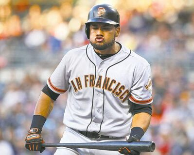 Lenny Ignelzi / the associated press archivesLeft-fielder Melky Cabrera was having a heck of a season with the San Francisco Giants before fouling out in August.