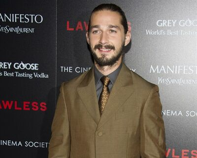 "FILE - In this Aug. 13, 2012 file photo, Shia LaBeouf attends a screening of ""Lawless"" hosted by The Weinstein Company and The Cinema Society in New York. LaBeouf appears completely nude in Sigur R�s' new music video in Lars Von Trier's ""The Nymphomaniac."" LaBeouf can next be seen in ""Lawless,"" opening Wednesday, about a West Virginia moonshine business during the Prohibition era. (Photo by Charles Sykes/Invision/AP, File)"