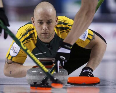 Jeff McIntosh / The Canadian Press</p><p>Ryan Fry, seen playing in the 2015 Brier with Northern Ontario, is taking a personal leave from curling after his team was disqualified for playing while intoxicated at a World Curling Tour event in Red Deer, Alta., on Saturday.</p>