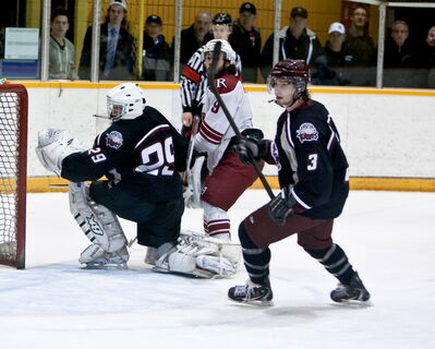 Macauley Siemens from Oak Bluff played defence on the Pembina Valley Hawks that took this year's MMJHL championship.