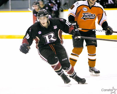 Tanner Magalas (pictured) and Zaz Oleksiw have been key contributors to the Raiders in their rookie MMJHL seasons.
