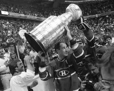 Montreal Canadiens' captain Bob Gainey carries the cup around the ice after the team's fifth game 4-3 Stanley Cup win over the Calgary Flames in Calgary on May 24, 1986. While the Montreal Canadiens have had plenty of success over their rich history, playing in the final four of the NHL post-season is uncharted territory for many on the current roster. THE CANADIAN PRESS/Dave Buston