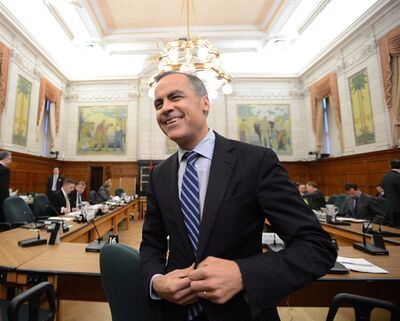 Bank of Canada Governor Mark Carney appears at a Commons finance committee on Parliament Hill in Ottawa on Tuesday, April 23, 2013. Saying goodbye to departing Bank of Canada governor Mark Carney last month cost Canadians about $30,000. THE CANADIAN PRESS/Sean Kilpatrick