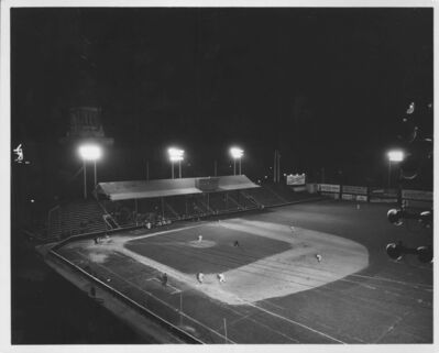 CITY OF WINNIPEG ARCHIVES</p><p>Osborne Stadium configured for baseball, Legislative building in the background.</p>