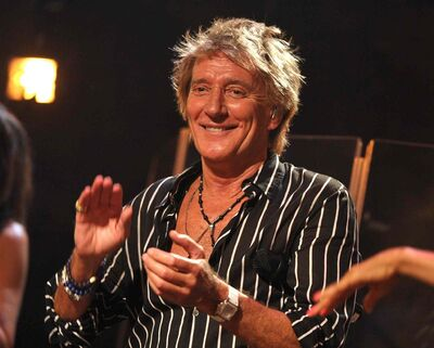Singer Rod Stewart performs at the Troubadour on Thursday, April 25, 2013, in Los Angeles. He and guitar legend Carlos Santana are scheduled to perform in Winnipeg Aug. 8.