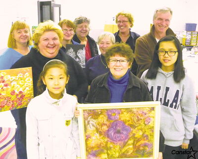 Valley Gardens Art Club members (front row, l-r) Victoria, Gail C., Heeyoung; (back, l-r) Sandra, Gail B., Alice, Kathy, Janine, Sharyn, Wayne.