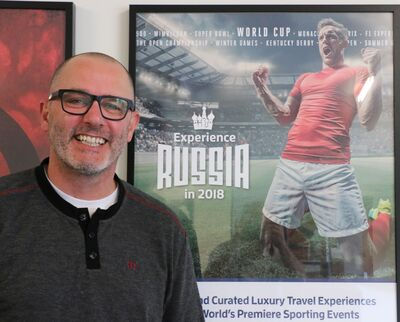 Chris Koop has criss-crossed the globe with a sports travel company called Roadtrips,including last year at the World Cup in Russia.