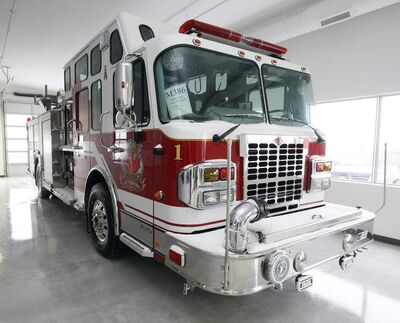 Fort Garry Fire Trucks recently expanded with a new manufacturing plant on Bergen Cutoff Road, to build fire trucks such as this, built  for Valcartier, Que., one of their many customers across Canada.