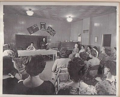 The Domain WI members are shown at a meeting in 1958.