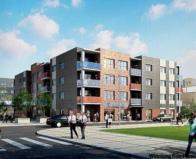 Construction is soon slated to begin on Phase 2 of the Sky Waterfront Condominiums, shown in an artist's rendering.