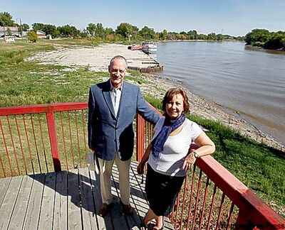 John Perrin, Sandra Gessler on Waterfront Drive.