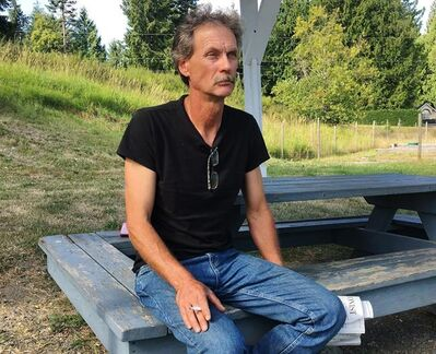 Alan Schmegelsky, father of Bryer Schmegelsky, poses in Mill Bay B.C. on July 24, 2019. The sister of an American tourist says the father of one of the British Columbia men named as a suspect in the woman?s death isn't accepting his share of responsibility for her family's sorrow. Kennedy Deese, whose sister Chynna Deese was found dead along with her Australian boyfriend Lucas Fowler near a highway in northern B.C. in mid-July, posted a statement to Facebook on Saturday accusing Alan Schmegelsky of playing the victim. THE CANADIAN PRESS/Laura Kane