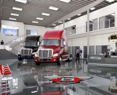 supplied</p><p>Freightliner is planning to build a 78,000-square-foot showroom and 35-bay service centre.</p></p>
