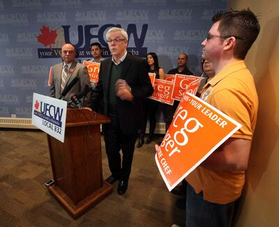 Premier Greg Selinger has the backing of the UFCW. Each of the leadership hopefuls is reporting different numbers when it come to their delegate counts.