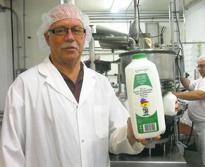 Creamery president Guy Roch, who says the opportunity for preparing organic milk came along six years ago.