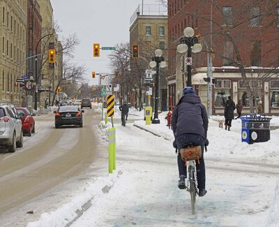 BRENT BELLAMY / Winnipeg Free Press</p><p>Winnipeg is a winter city, but cycling in winter is still viewed by many as an extreme activity.</p>