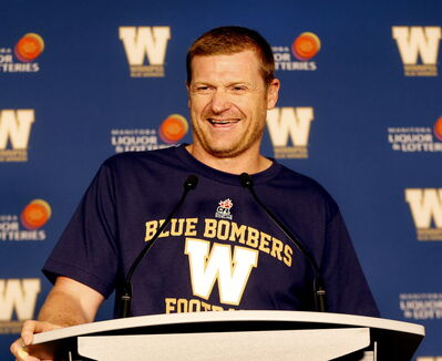 Bombers' head coach Mike O'Shea