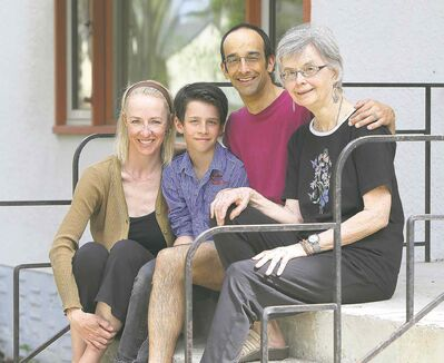 Jay Sinha (second right) with his wife, Chantal Plamondon (left), son, Jyoti Plamondon-Sinha, and his mom, Luella Sinha.