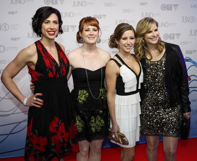There have been plenty of public appearances for Team Jones (Jill Officer, Dawn McEwen, Kaitlyn Lawes, Jones), including as presenters at the Junos.
