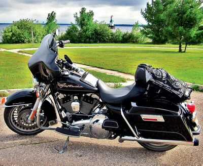 Willy rode his Harley-Davidson Road King to Milwaukee and back.