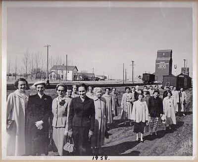 This photo was taken of the Domain WI members in 1958 for a Maclean's magazine article.