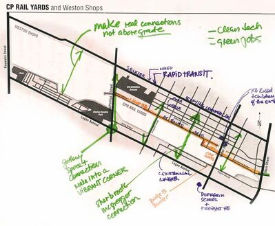 Participants sketched several maps, including this one, at  the forum.