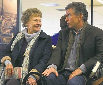 Judi Dench, left, and Coogan in a scene from Philomena.