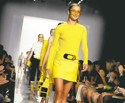 RICHARD DREW / THE ASSOCIATED PRESS ARCHIVESModels display the Michael Kors Spring 2013 collection in New York this month.
