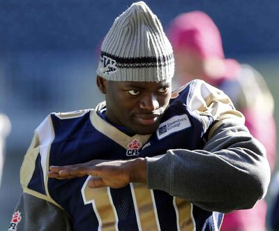 The Bombers announced Wednesday morning that Henoc Muamba -- Winnipeg's oustanding player nominee and the top Canadian in the CFL's East Division in 2013 -- has been released so that he can pursue NFL opportunities.