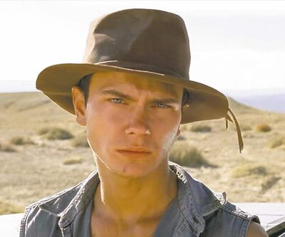 River Phoenix in Dark Blood, his last role before his death in 1993.