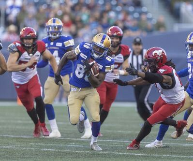In the end, Grant accounted for more than half the points for the Bombers, bailing out an offence that was forced to settle for four field goals. (Sasha Sefter / Free Press files)