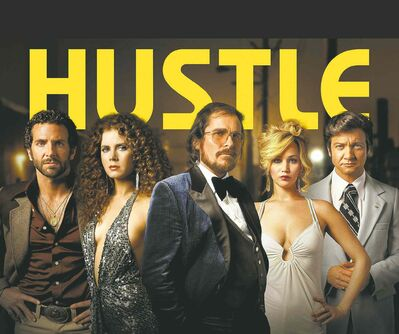 SONY PICTURES ENTERTAINMENTFrom left, Cooper, Adams, Bale, Lawrence and Renner get their groove on in American Hustle.