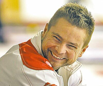 Mike McEwen, playing out of the Assiniboine Memorial Curling club, participates in the Prairie Classic in Portage la Prairie, Friday, October 19, 2012. (TREVOR HAGAN/WINNIPEG FREE PRESS)