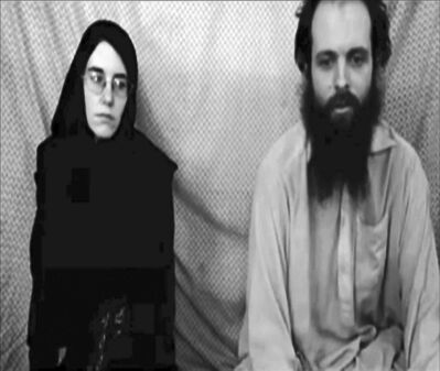 IMAGE COURTESY THE Coleman Family / The Associated PressThis image taken from a video shows Caitlan Coleman and her Canadian husband, Joshua Boyle. Coleman was pregnant when the couple went missing.