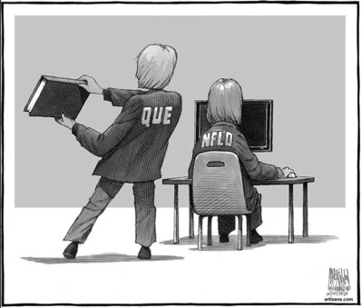 The above Halifax Chronicle Herald cartoon plays on a bullying incident at a Halifax library that can be viewed at thechronicleherald.ca/videos/news/2562282640001.