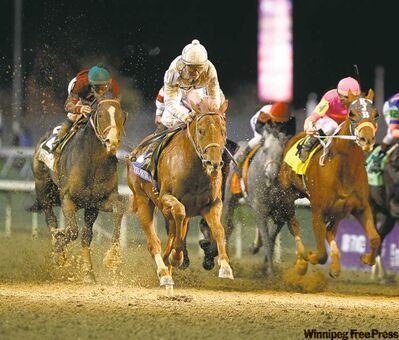 Charles Bertram / Lexington Herald-Leader / MCTDrosselmeyer, with No. 3 Mike Smith up (inset), won the Breeders� Cup Classic at Churchill Downs on Saturday.