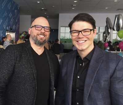 Greg Fettes (left) with his brother Jeff Fettes are the founders of 24-7 Intouch. Greg is part of an ownership group bringing the Kootenay Ice to Winnipeg. (Martin Cash / Winnipeg Free Press files)</p>