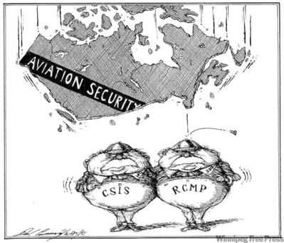 June 18 2010 winnipeg free press dale cummings edit cartoon    CSIS / RCMP / SECURITY / MAJOR COMMISSION