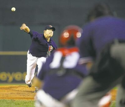 Goldeyes starter Matt Rusch went seven innings for the victory Friday night, allowing eight hits, one run while striking out five.