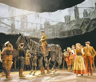 "A scene from ""War Horse."" Co-produced with the National Theatre of Great Britain and a consortium of commercial producers, the show ran nearly two years at the Vivian Beaumont Theatre in New York."