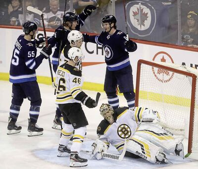 The Jets are coming off a hard-fought 4-3 victory over Boston on Thursday. (Trevor Hagan / Winnipeg Free Press files)