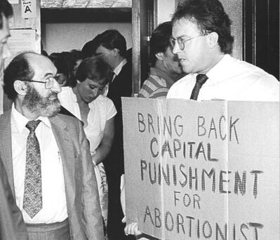Morgentaler's clinics started legal fights.