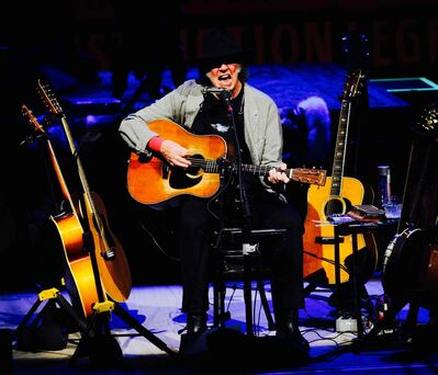 Neil Young rocks out for a sold-out crowd at Winnipeg's Centennial Concert Hall Thursday as part of his Honor the Treaties tour.